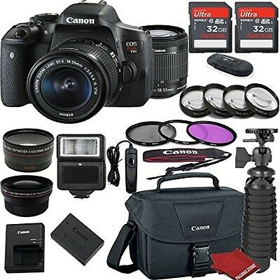 Canon EOS Rebel T6i DSLR Camera Bundle with Canon EF-S 18-55mm f/3.5-5.6 IS STM
