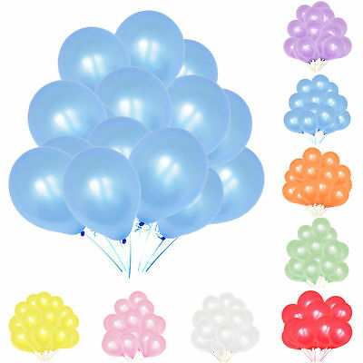 Metallic pearl latex Balloons 25-100 qty Helium High Quality, balloon ribbons