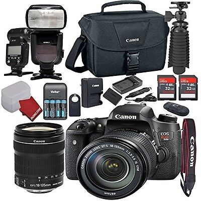 Canon EOS Rebel T6S DSLR Camera Bundle with Canon EF-S 18-135mm f/3.5-5.6 IS STM