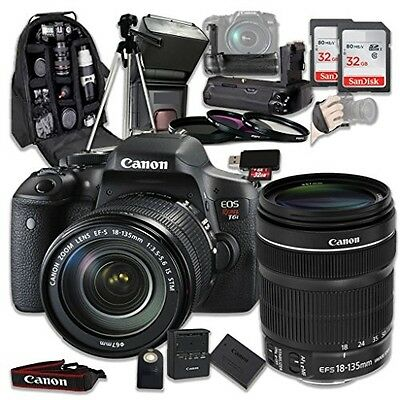 Canon EOS Rebel T6i 24.2 MP Digital SLR Camera Bundle with Canon EF-S 18-135mm