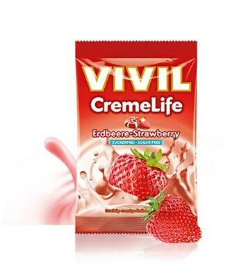 Vivil Sugar Free Sweets Strawberry & Cream, No Sugar Added, Diabetic, Low Carb