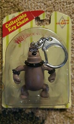 Wallace & Gromit Rare Dog Keychain 1989 RARE Sealed On Card 5""