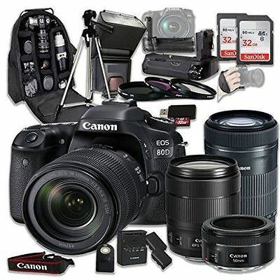 Canon EOS 80D Wi-Fi Full HD 1080P Digital SLR Camera with Canon EF-S 18-135mm