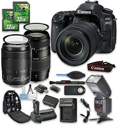 Canon EOS 80D DSLR Camera Bundle with Canon EF-S 18-135mm f/3.5-5.6 IS STM Lens