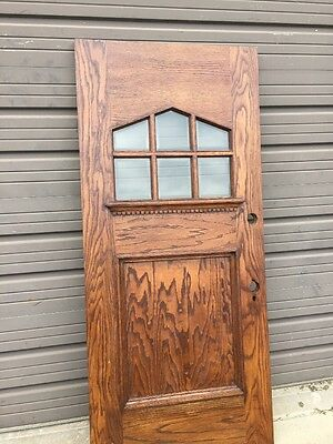 An 303 Antique Beveled Glass Arts And Crafts Entrance Door Refinished. 36 X 79