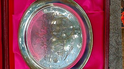 "Vintage Danbury Mint 1978 STERLING SILVER 233g  ""Molly Pitcher"" Plate"
