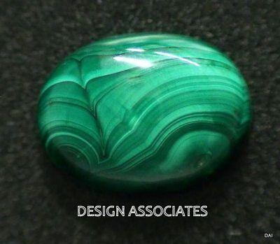 Malachite Cabochon 16 X 12 Mm Oval Cut Great Green Color All Natural