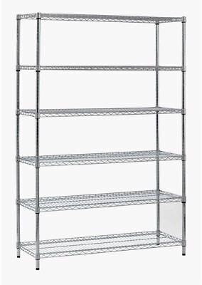 72 in. H x 48 in. W x 18 in. D 6-Shelf Steel Shelving Unit in Zinc Finish
