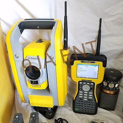 "Trimble S3 2"" Complete Robotic Total Station with TSC2 Controller MT 1000 Prism"
