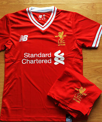 Liverpool FC 2017/18 NEW SEASON Red Home Kids Kit Shirt + Short No:10 COUTINHO