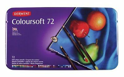 Derwent 72 Colorsoft Coloursoft tin case NEW pencils made in UK