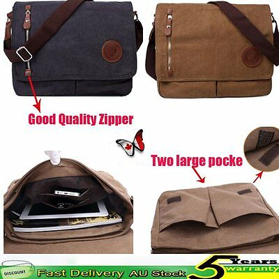 Men's Travel Hiking Vintage Canvas Messenger Shoulder Satchel Laptop Bag School