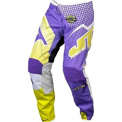 JT Racing - Hyperlite Voltage Motocross Pant YOUTH-Purple/White/Yellow-Size 26