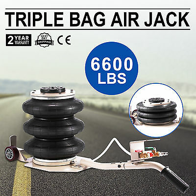 Triple Bag Air Jack Pneumatic Jack 3 Ton Jack Stands Lifting Heavy Duty PRO
