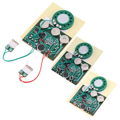 30s Recordable Voice Module 0.5W Key Button Control Music Box Chip w/ Battery