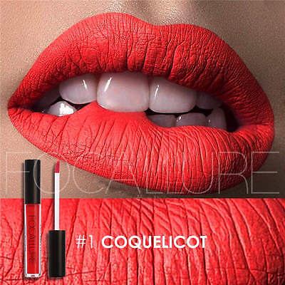 FOCALLURE Long Lasting Liquid Lipstick Matte Lip Gloss Waterproof Makeup 25Color