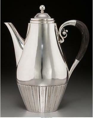 GEORG JENSEN 45A Cosmos Coffee Tea Pot Pitcher 925 Sterling Silver