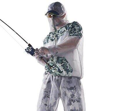 1 Set Anti mosquito Bug Suit High Density Mesh Repellent Reflective Fishing Suit