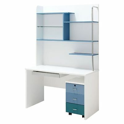NEW OliandOla Blue Lover Computer Desk with Bookshelf
