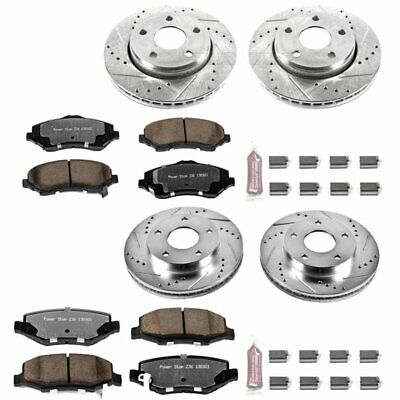 Powerstop Brake Disc and Pad Kits 4-wheel set Front & Rear New K2832-36