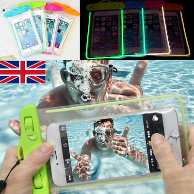 Waterproof Fluorescent Case Cover Swimming Dry Bag Pouch For iPhone Mobile Phone