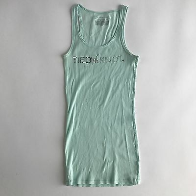 Victoria's Secret Wedding Bridal Sequence Tied The Knot Tank Top Size Medium EE