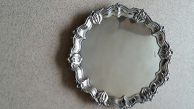 Antique Silver Salver. Walker and Hall. Sheffield, 1905.