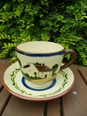 Motto Ware Cup & Saucer Time Ripens All Things Devon Watcombe
