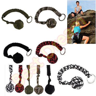 Monkey Fist Paracord Self Defense Keychain 550 Military Steel Ball Survival