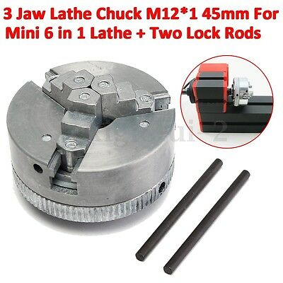 Self Centering 3 Jaw Lathe Chuck CNC Lathe Milling For Mini 6 in 1 Lathe 45mm UK