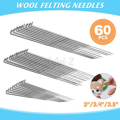 30Pcs Felting Needles Handle Wool Felt Tool Felting Starter Kit DIY New