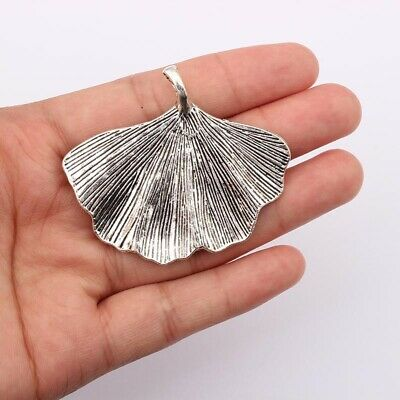 10pcs Antique SilverGinkgo Leaf Charms Pendants for Necklace Jewelry Findings