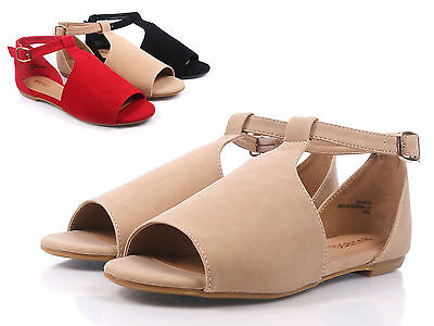 49792c9eceb Natural Bamboo Fashion NuBuck Womens Open Toe Ankle Strap Sandals Size 6.5