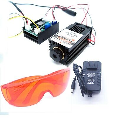 Focusable 450nm 2W Blue Laser Module TTL Carving/Burning/Engraning Gift Goggles