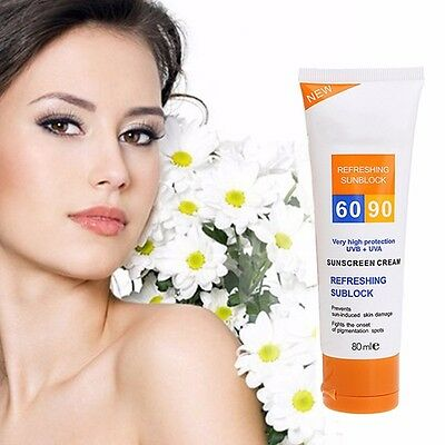 SPF 90+ UV Isolate Sunscreen Cream Moisturizing Skin Protect Sunblock Face Care