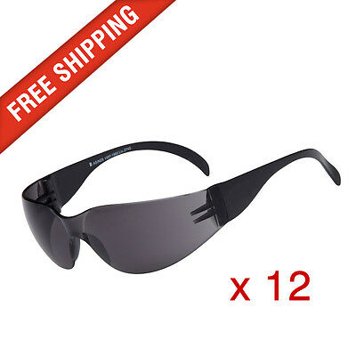 12 x Tinted Safety Glasses Eye Protection PPE Australian Standards