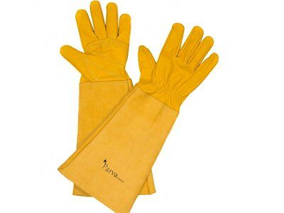 Thorn Proof Gloves for Pruning Rose Garden and Prickly Plants Leather Gloves Arm