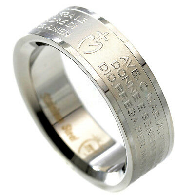Band Ring AVE Our Padre MARY JANE Steel MEASURES 16 17 18 19 20 21 22 23 nc
