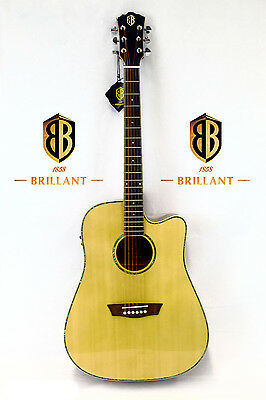 Brillant Solid Top Acoustic-Electric Guitar WD15SCE