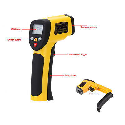 Digital Infrared Temperature Gun Sensor Tester Heat Laser IR Thermometer ℃/℉