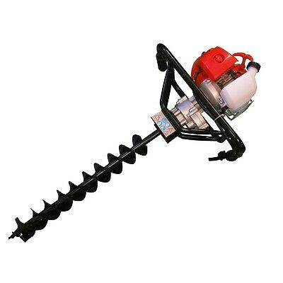 FENCE POST HOLE BORER EARTH AUGER GROUND DRILL 52cc PETROL with 150mm BIT
