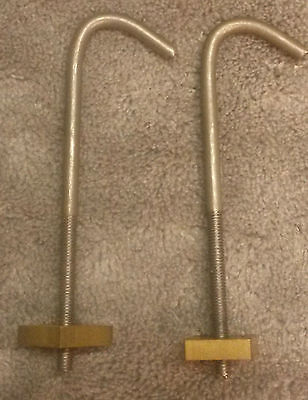 A Pair Of Longcase/grandfather Clock Seat Board Hooks Replacements/spares/repair