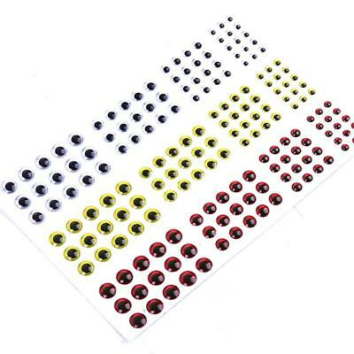 183pcs 3D Holographic Fishing Lure Eyes for Fly Tying Jigs Craft 3/4/5/6mm