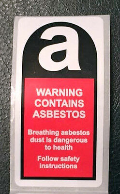 100 x Asbestos warning labels / Stickers 50mm x 100mm  FREE P&P