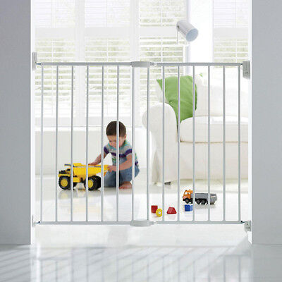 Safety 1st Wall Fixing Extending Metal White Gate