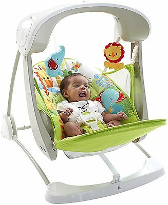 Fisher-Price Rainforest Take Along Swing and Seat Set - New