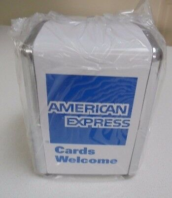 Serviette Dispenser AMERICAN EXPRESS Logo Dinner/ Restaurant /Home Use -NEW
