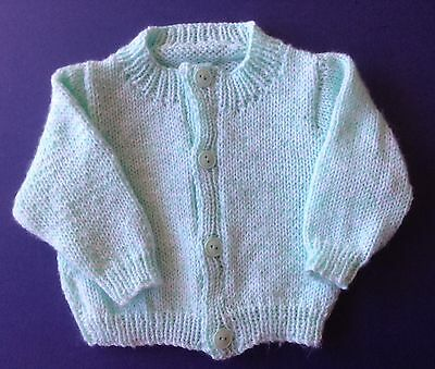 New hand knitted baby Jacket. Mint Green. Sz 000. Save post on 2 items