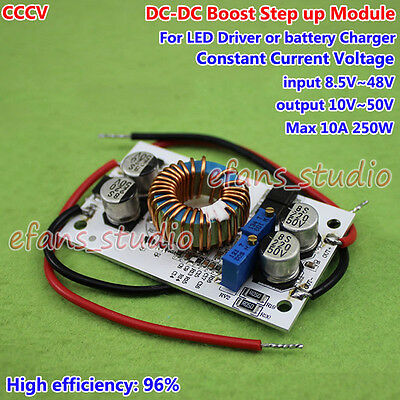 DC Boost Step-up Converter Constant Current 12V 24V 36V 48V LED Battery Charger