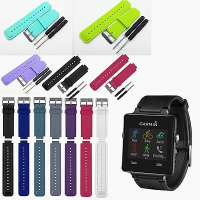 Replacement Silicone Wrist Band Strap Bracelet for Garmin Vivoactive Smart Watch